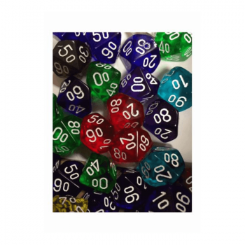 Dice Translucent 10% - Random Colour