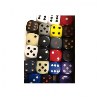 Dice Opaque D6 - Random Colour