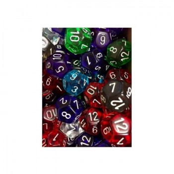 Dice Translucent D12 - Random Colour